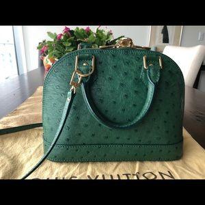 Louis Vuitton Alma BB Green ostrich